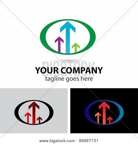Arrow vector logo icon template