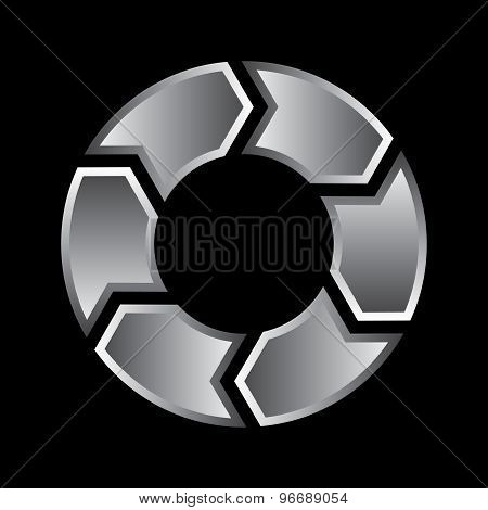 Diagram Cycle Circle Arrow