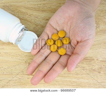 Medicine On Human Hand