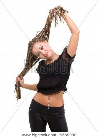 Jovem mulher com Dreadlocks