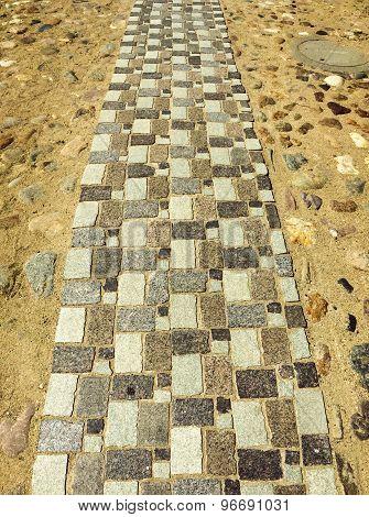Pedestrian Stone Road