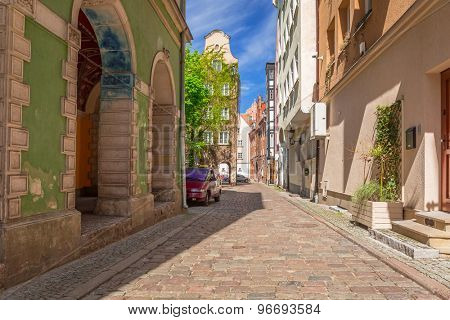 Architecture of the old town in Gdansk, Poland