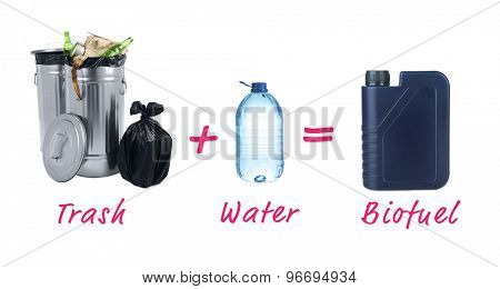 Trash plus water is bio fuel