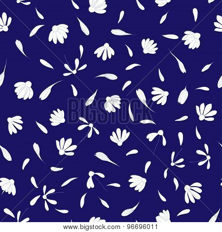 cute chamomiles seamless pattern. floral vector illustration
