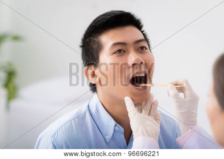 Throat examination
