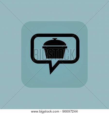 Pale blue pot message icon