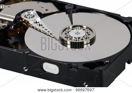 Hard Disk Isolated On A White Background