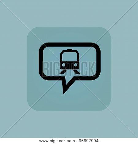 Pale blue train message icon