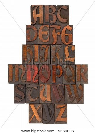 English Alphabet Abstract - Antique Type