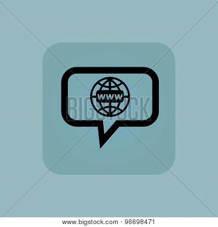 Pale blue global network message