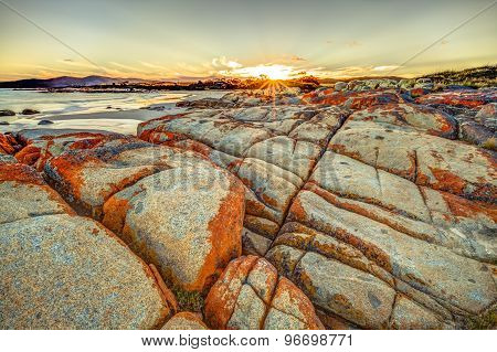Bay of Fires at sunset