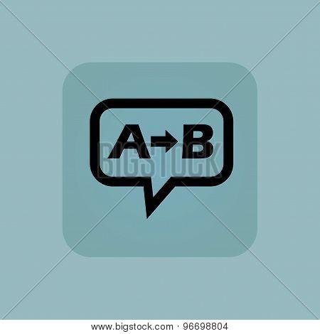 Pale blue A B message