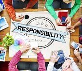 stock photo of trustworthiness  - Responsibility Reliability Trust Liability Trustworthy Concept - JPG
