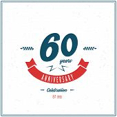 Sixty years anniversary celebration logotype. 60th anniversary logo. poster