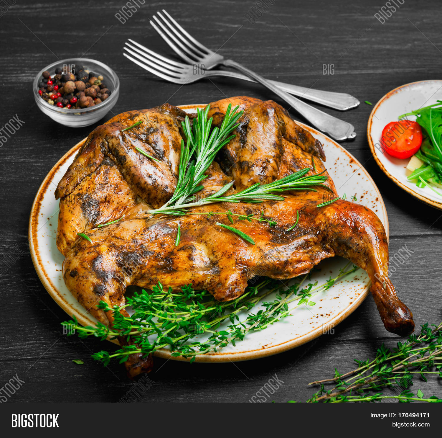 Bild und Foto: Georgian Cuisine. Grilled Fried | Bigstock