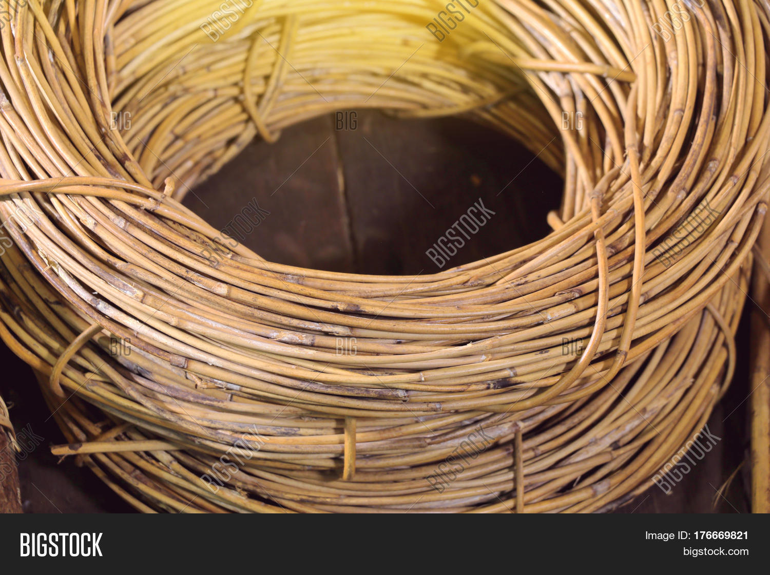 Materials Used For Making A Basket : Rattan materials used make basket image photo bigstock
