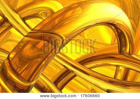 abstrakte Molekülstruktur
