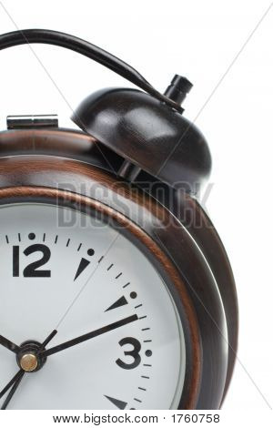 Partial View Of Alarm Clock