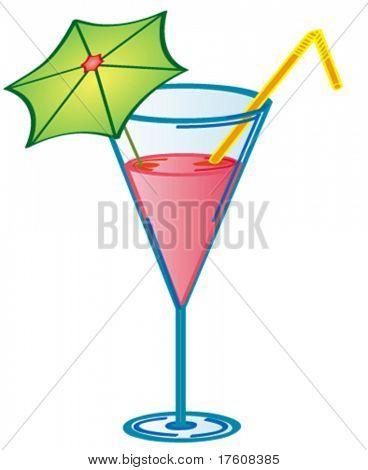 cocktail in goblet
