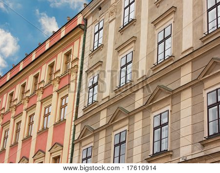 Facade Of Buildings In Czech Republic