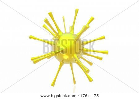 microbe isolated over white background