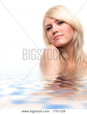 Attractive Blond In Water