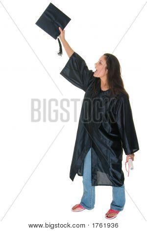 Young Woman Graduate Receives Diploma 12
