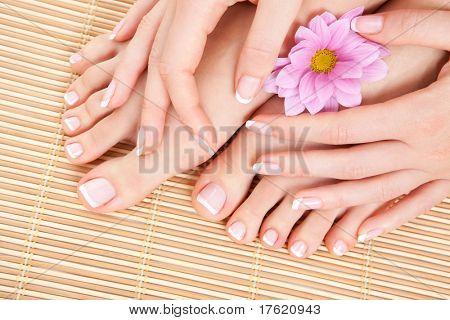 cuidados para os pés de mulher bonita