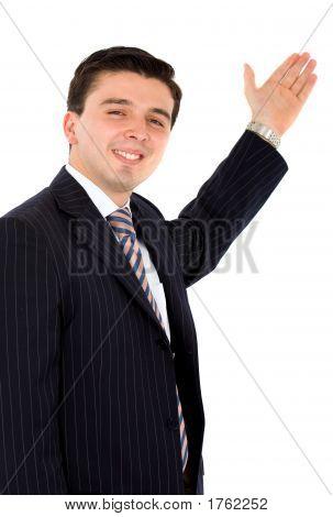 Business Man Presenting