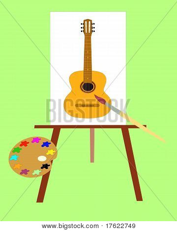 The Picture With Music Instrument.