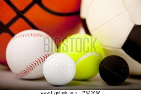Balls of different sports ? isolated over a white background