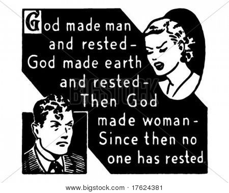 God Made Man... - Retro Ad Art Banner