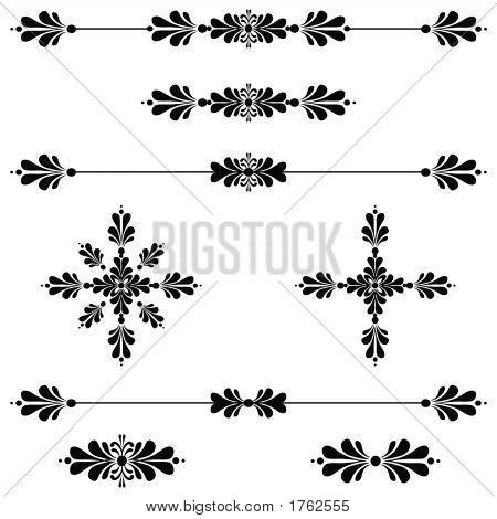 Dekorative Linie ScrollBar Dekoration Kunst 34