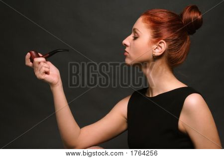 Woman With Pipe