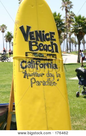 Venice Beach Surfboard Sign