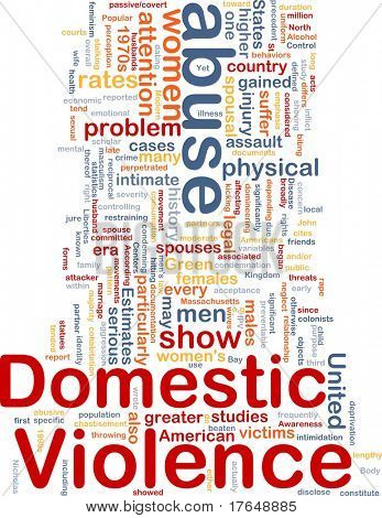 Concept diagram wordcloud illustration of domestic violence abuse