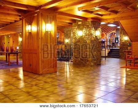 Wooden Luxury Indoor With Lights