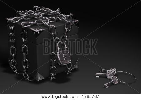 Box, Chain And Padlock