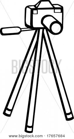 photographic camera and tripod