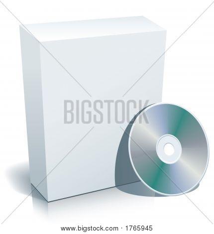 Disco y caja en blanco