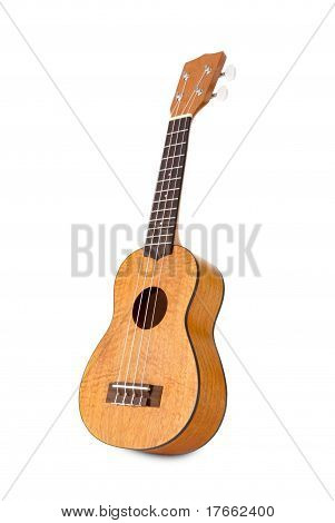 Ukulele On White Background
