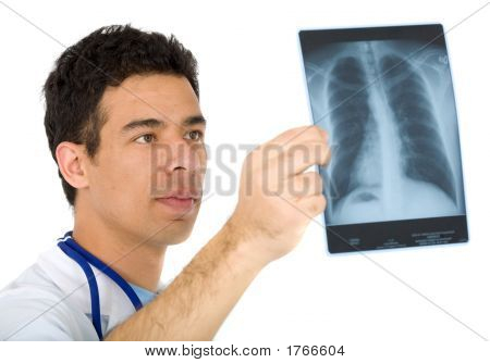 Doctor Looking At ein Xray