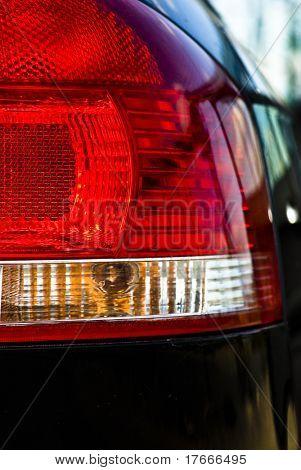 car red brakes lights