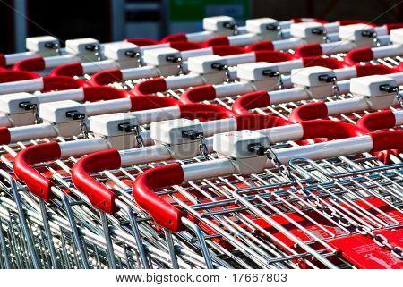 shopping carts closeup
