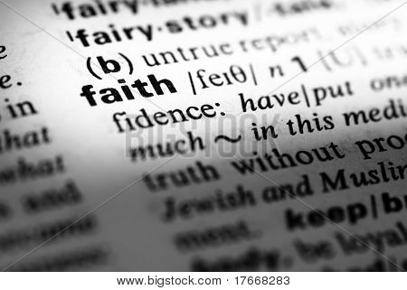 dictionary definition of faith