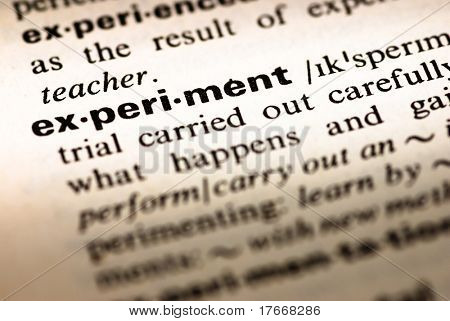 dictionary definition of experiment