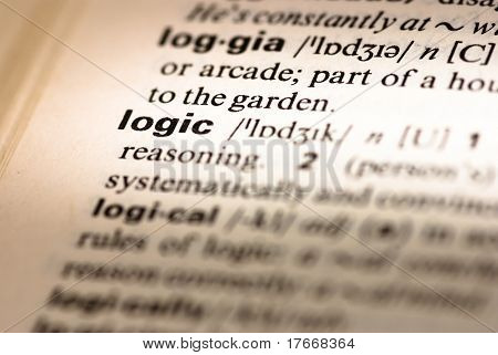 logic dictionary definition