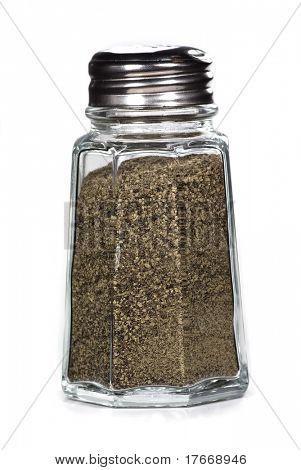 pepper shaker on white background