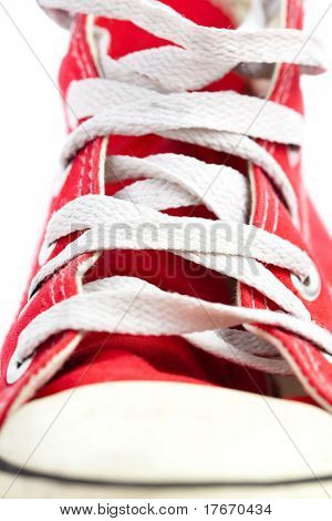 red sneaker closeup