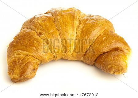 croissant recently made isolated on white background